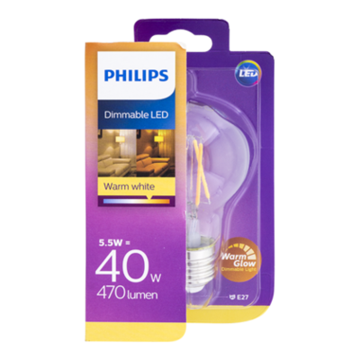 Philips Lamp LED Classic 40W A60 E27 WW CL