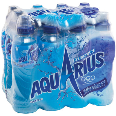 Aquarius Blue berry met sportdop