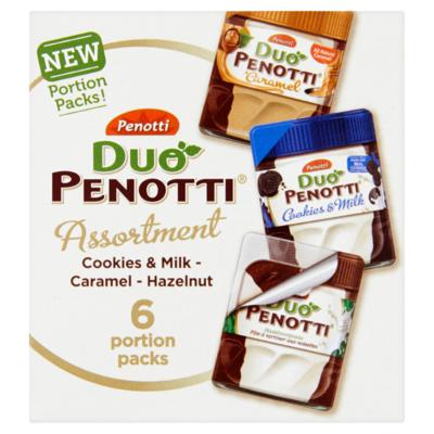 Duo Penotti Duo  Assortment Cookies & Milk - Caramel - Hazelnut 6 x 15 g