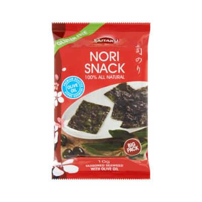 Saitaku Nori Snack Seasoned Seaweed With Olive Oil Big Pack