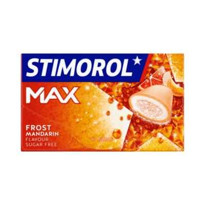 Stimorol Max Frost Mandarin Flavour Sugar Free Gum 10 Stuks