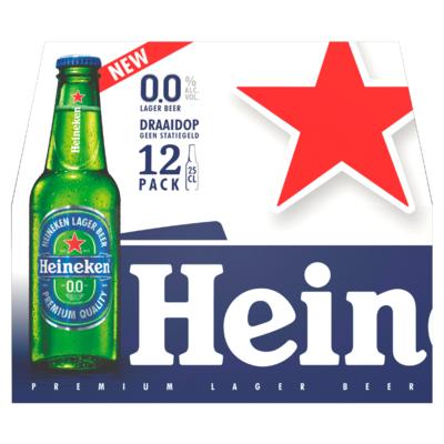 Heineken 0.0 Alcoholvrij Bier Fles 12 x 25 cl