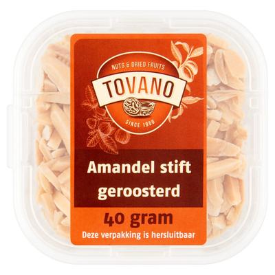 Tovano Amandel Stift Geroosterd 40 g