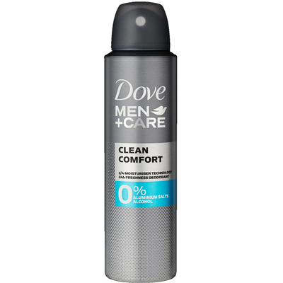 Dove Men + care deodorant clean comfort 0%