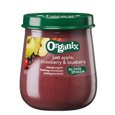 Organix Appel, aardbei & bosbes 6+ mnd