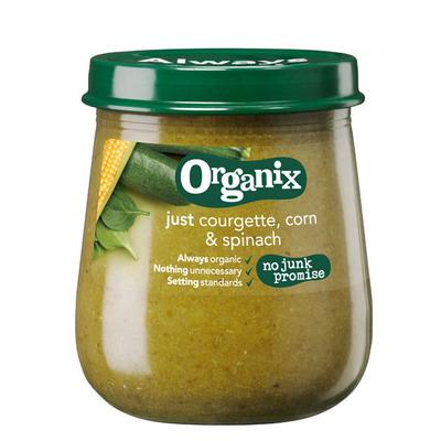 Organix Courgette, maïs & spinazie 6+ mnd