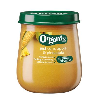 Organix Maïs, appel & ananas 6+ mnd