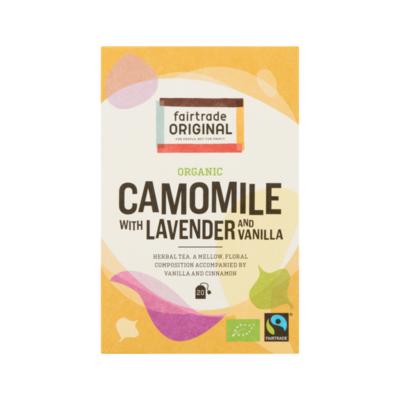 Fairtrade Original Organic Camomile with Lavender and Vanilla 20 Zakjes