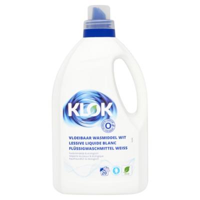 Klok ecologisch vloeibaar wasmidel wit 1,5 liter