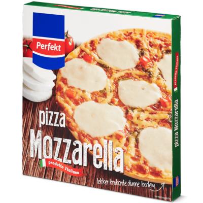 Huismerk pizza mozzarella krokant