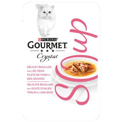 Gourmet Crystal soup met tonijn en ansjovis