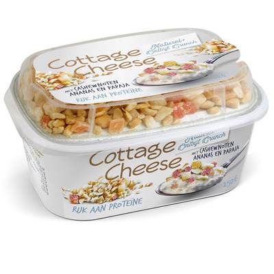 Cottage Cheese Naturel + Ontbijt Crunch
