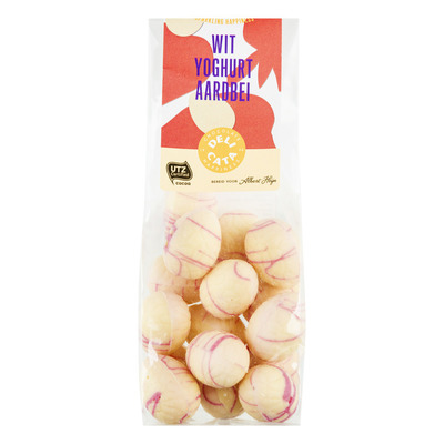 Huismerk Paaseitjes wit yoghurt aardbei