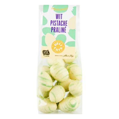 Huismerk Paaseitjes wit pistache praliné