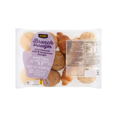 Huismerk Brood & Meer Brunch Broodjes Mini Croissants Witte & Meergranen Broodjes 12 Stuks