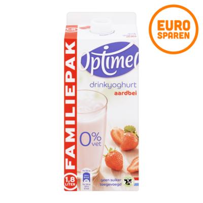 Optimel Drinkyoghurt Aardbei Voordeelpak