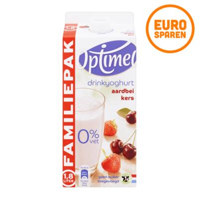 Optimel Drinkyoghurt Aardbei Kers Voordeelpak