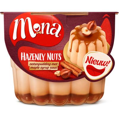 Mona Pudding pecan hazelnoten stroop