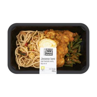 Huismerk Foodmarkt Nieuwe Standaard Kip Javaanse Bami met Haricots Verts, Kip en Ei