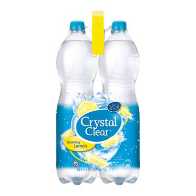 Crystal Clear Sparkling Lemon Multipack 4 Flessen