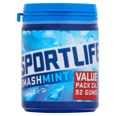 Sportlife Smashmint Suikervrij Kauwgom Pot 4 x 130 g