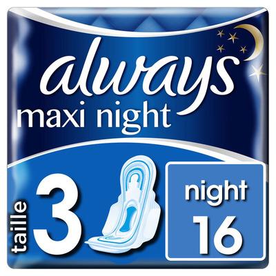 Always Maxi night maandverbanden met vleugels
