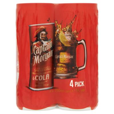 Captain Morgan Cola 6x4 Blik