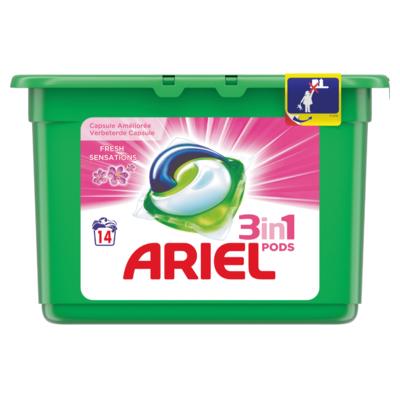 Ariel Vloeibaar wasmiddel pods fresh sensation pink