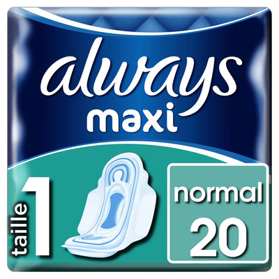 Always Maxi normal maandverbanden met vleugel