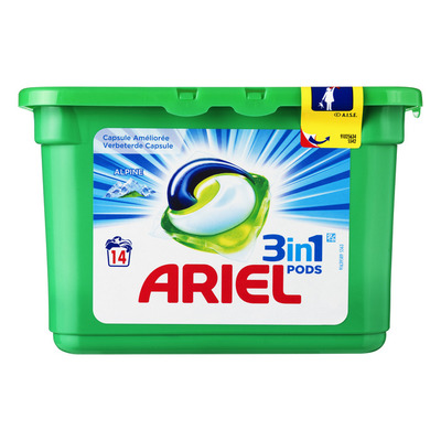 Ariel 3in1 pods alpine wasmiddel capsules