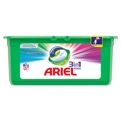 Ariel 3in1 Pods Kleur & Stijl Wasmiddelcapsules 27x