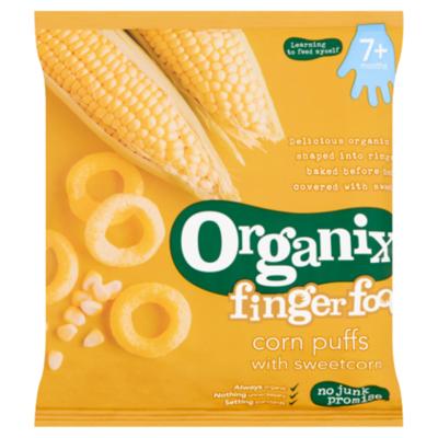 Organix Goodies 7+ Fingerfoods Puffs Sweetcorn Bio