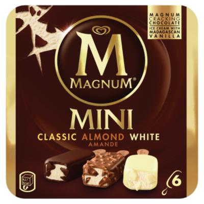 Ola Magnum mini classic almond white 6 st