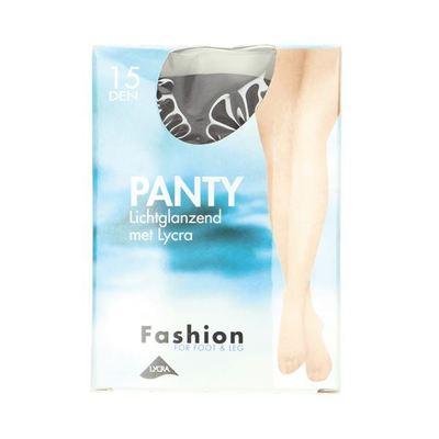 Fashion  Panty lichtglanzend grafiet maat 40-44, 15 denier