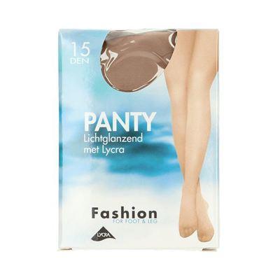 Fashion  panty lichtglanzend teint maat 44-48, 15 denier