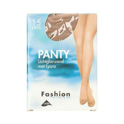Fashion  panty lichtglanzend teint maat 48-52, 15 denier