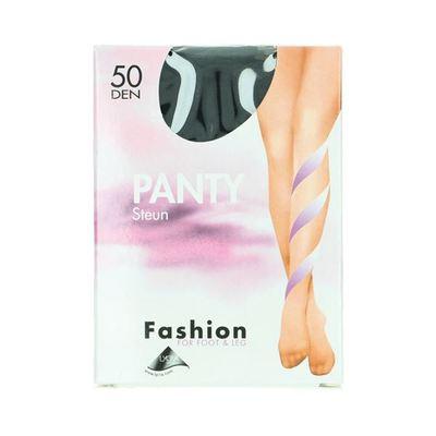 Fashion  panty steun zwart maat 44-48, 50 denier