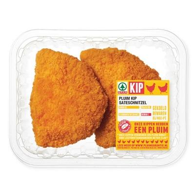 Huismerk pluim kipsateschnitzel 2 stuks