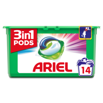Ariel Wasmiddel 3in 1 pods color & style