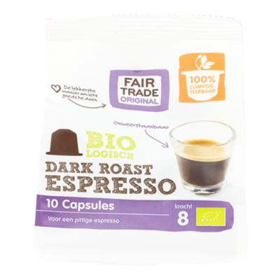 Fair Trade Original Koffiecapsules  Espresso Dark Roast B.
