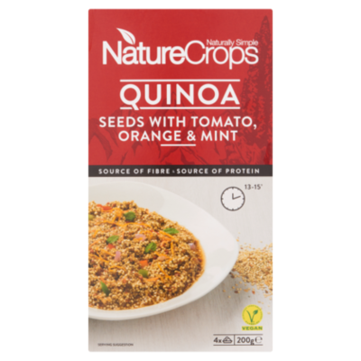 NatureCrops Quinoa seeds tomato, orange & mint