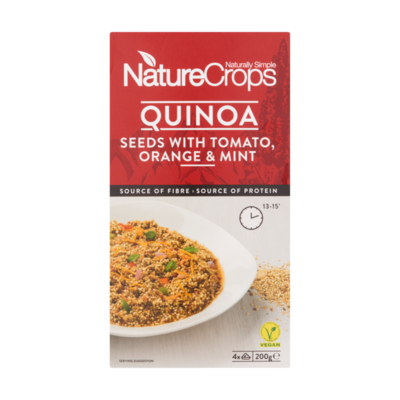NatureCrops Quinoa Seeds with Tomato, Orange & Mint