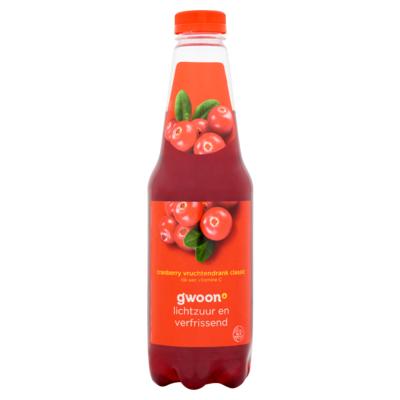 g'woon Cranberry Vruchtendrank Classic 1 L