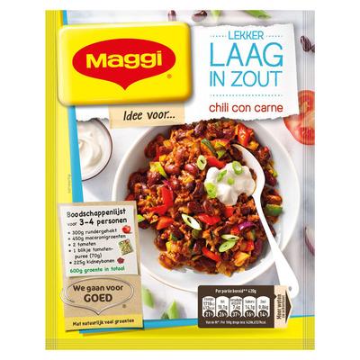 Maggi Lekker laag in zout chili con carne