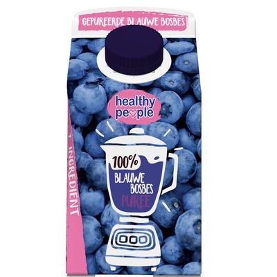 Healthy People Fruitpuree blauwe bes