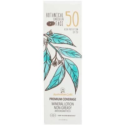 Australian Gold SPF 50 botanical tinted face lotion