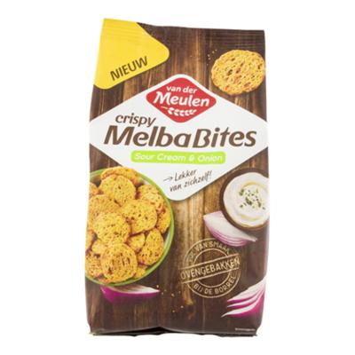 Van der Meulen Crispy melba bites sour cream & onion