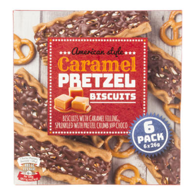 Nora Caramel Pretzel biscuit