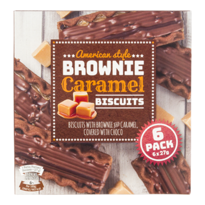 Nora Brownie Caramel Biscuit