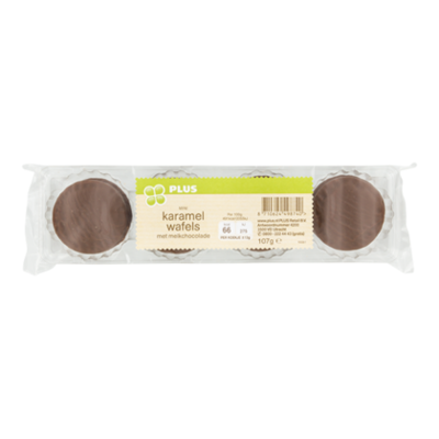 Huismerk Mini karamel wafels melk chocolade